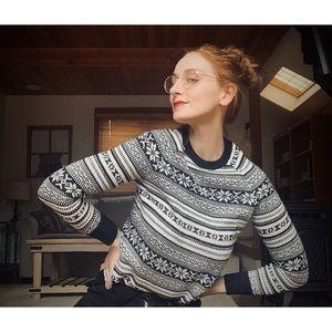 Soft Goth Fair Isle Sweater